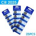 WX Для часы Кнопка батарея cr2025 ecr2025 br2025 2025 kcr2025 3 вольт литиевые батареи оптом 25 шт. EE6279
