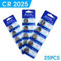 WX For watch Button battery cr2025 ecr2025 br2025 2025 kcr2025 3 volt lithium coin cell battery bulk 25 pcs EE6279