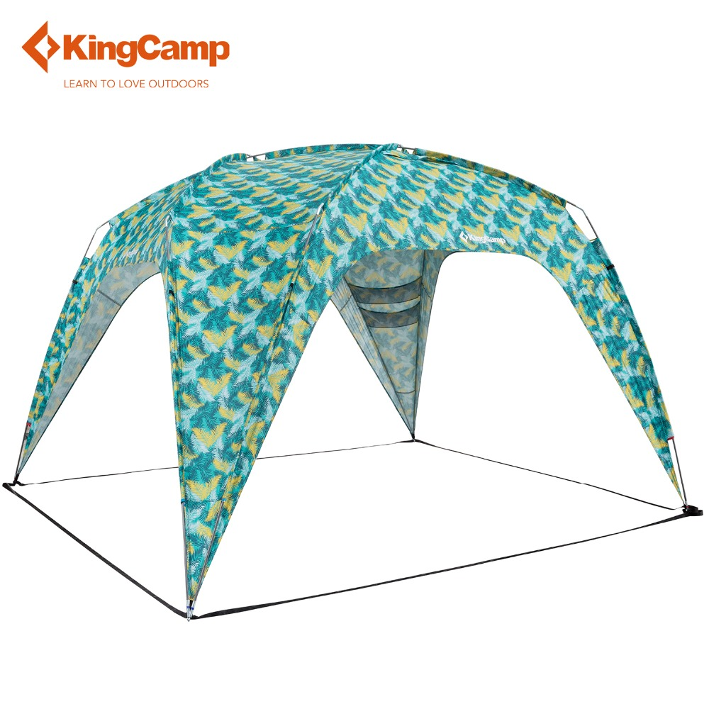 KingCamp Camping Tent Outdoor Canopy Tent for Patio Gazebo Wedding Party Car Sun Shelter for Picnic Hiking Trekking outdoor double layer 10 14 persons camping holiday arbor tent sun canopy canopy tent