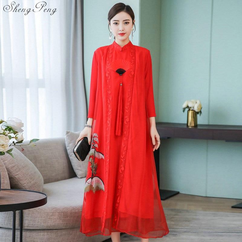 New Chinese traditional dress women oriental elegant dress Chinese classical dress qipao Chinese style modern cheongsam