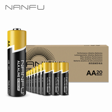 NANFU 20 Pcs AA Batteries Ultra Power LR06 Alkaline Battery 1.5V for Clocks Remote Controller Toys Electronic Device [RU]