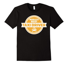 Create T Shirt Online MenS Short WorldS Best Taxi Driver Crew Neck Fashion 2018 Tees