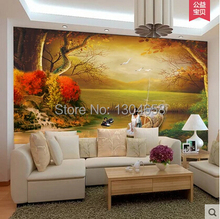 Custom large mural of European painting Swan television personality living room bedroom restaurant background wallpaper