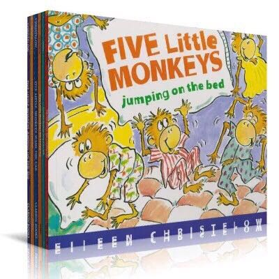 Five Little Monkeys All 9 Volumes Of Liao Caixing English Story Picture Book The On Aliexpress