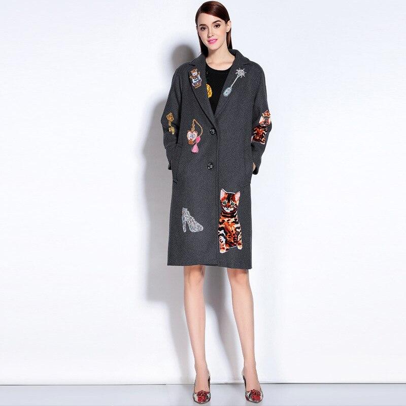 2016 Autumn winter Outerwear Women wool font b coat b font fashion high quality vintage font