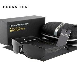 Image 2 - HDCRAFTER di Modo di Guida Occhiali Da Sole per Gli Uomini Polarizzati UV400 Del Progettista di Marca Occhiali Da Sole Da Uomo Oculos Maschio gafas de sol 2017 Hot
