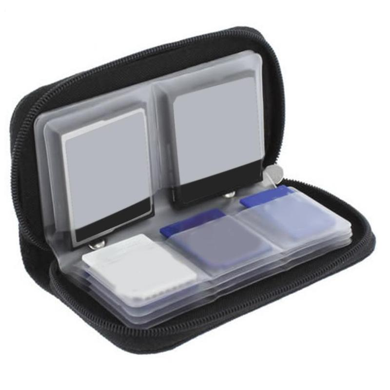 Portable 22 In 1 Memory Card Storage Carrying Case Holder Wallet For CF/SD/SDHC/MS/DS 3DS Game Cards Camera Cards Dropshiping