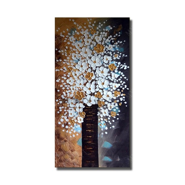 The lastest large Modern art Handmade Abstract Oil Painting plum flowers on Canvas Pictures wall Artwork Home Decor no frame
