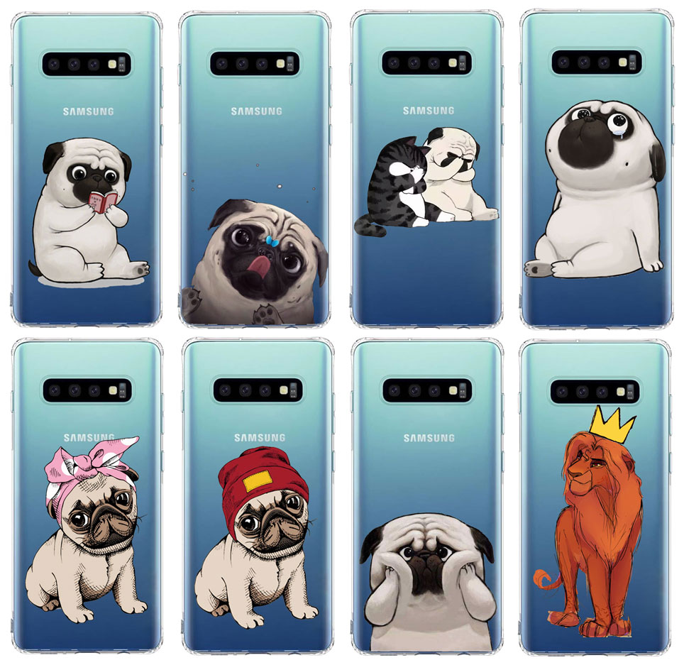 <font><b>Funny</b></font> cat dog Animal cute Phone <font><b>Case</b></font> For <font><b>samsung</b></font> S10 E S10 S9 S8 Plus S7 S6 Soft TPU Transparent Cover for A6 A7 2018 Cover image