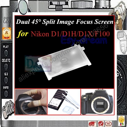 Dual 45 degree Split Image Focus Focusing Screen For Nikon D1 D1H D1X F100 PR129