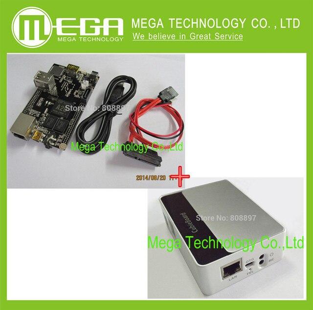 PC Cubieboard A20 Двухъядерные Совет По Развитию с Силовой Кабель SATA Wire USB к TTL Line с случае