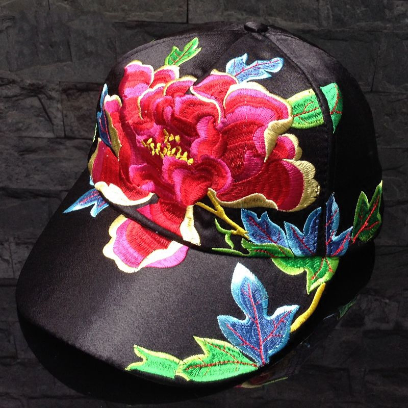 Novelty Floral Running Baseball Cap Women Hat Adjustable Polo Cap Snapback Female Unsex Hip Hop Caps Women 2017