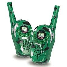 2 шт. walkie talkie игрушка Детские электронные игрушки камуфляж Стиль двусторонней радиосвязи установить четкие диапазон мини переговорные дети Интерактивная игрушка