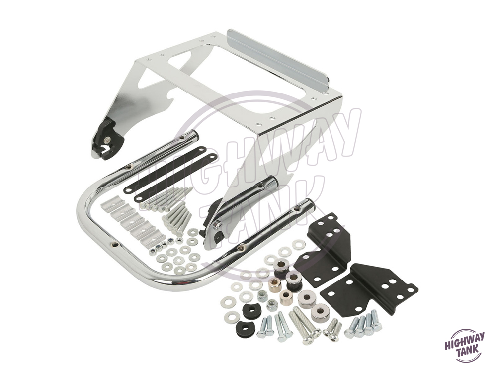 Chrome Motorcycle Solo Tour Pak Rack Moto Luggage Rack Docking Hardware Kit case for Harley Touring Road King 1997-2008 partol black car roof rack cross bars roof luggage carrier cargo boxes bike rack 45kg 100lbs for honda pilot 2013 2014 2015