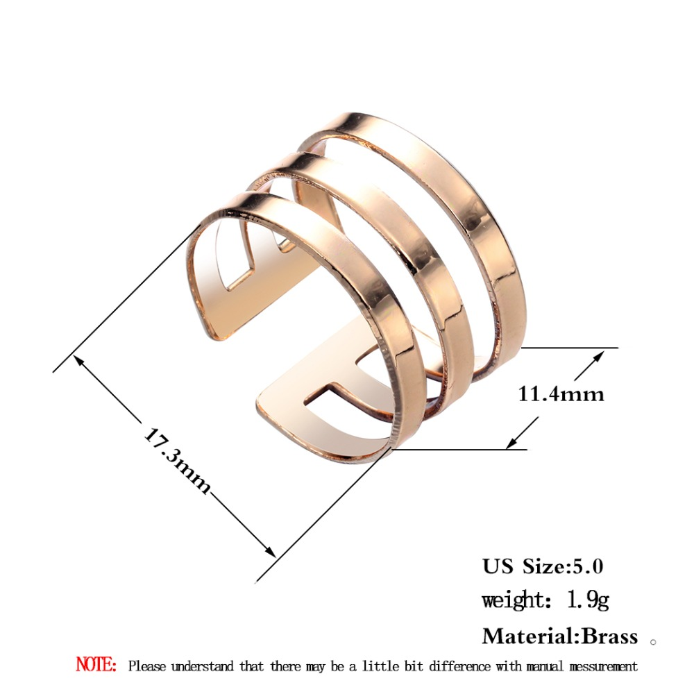 Three Line Rings