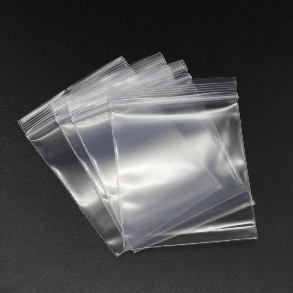 100pcs/bag 4*6/5*7/6*8/7*10/8*12cm Ziplock Zipped Lock Reclosable Plastic Poly Clear Bags Bulk Jewelry Craft Accessory Packaging
