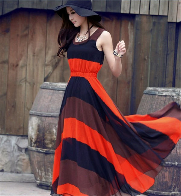 Collection Casual Long Dresses Pictures - Reikian