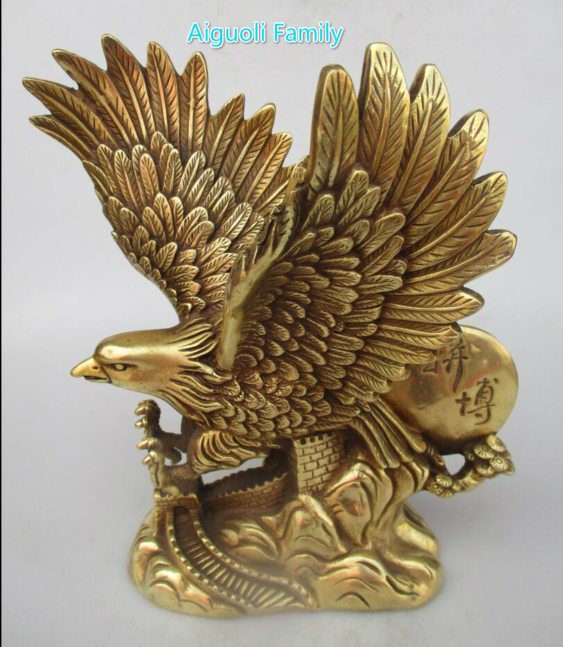 Save Big Bird >> Wedding decoration Art Collection Chinese Brass Carved Big Eagle Statue/Bird Sculpture For Eagle ...