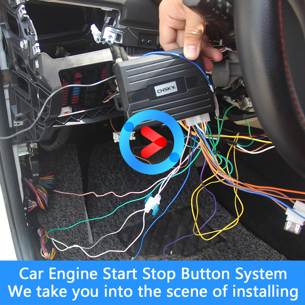 US $18 55 43% OFF CHSKY Car Engine Push Start Button RFID Engine Lock  Ignition Keyless Entry System Go Push Button Engine Start Stop  Immobilizer-in