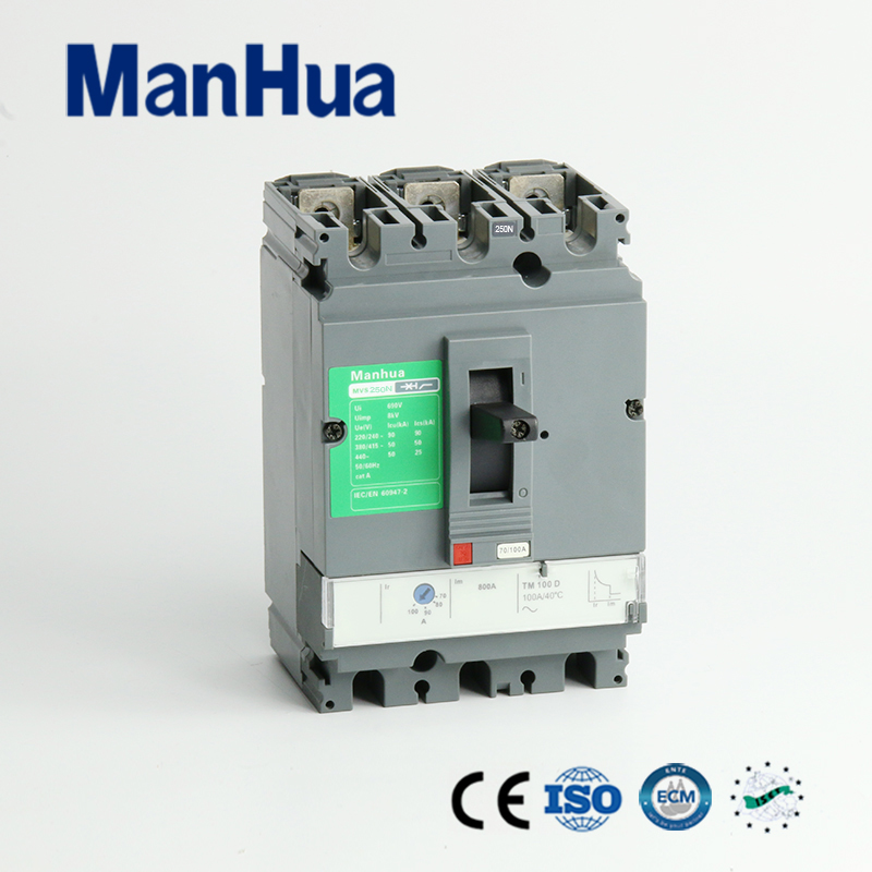 Manhua CB CE Certificated Breaking Capacity Adjustable 250A 3P MVS-250N Moulded Case Circuit Breaker 400a 3p 220v ns moulded case circuit breaker
