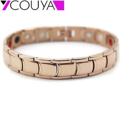 2017 rose gold color stainless steel magnetic therapy high strength power bracelets.jpg 250x250