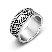New Summer Resistance To Abrasion Fashionable Men S Stainless Steel Ring Cocktail Jewelry Wholesale 2016