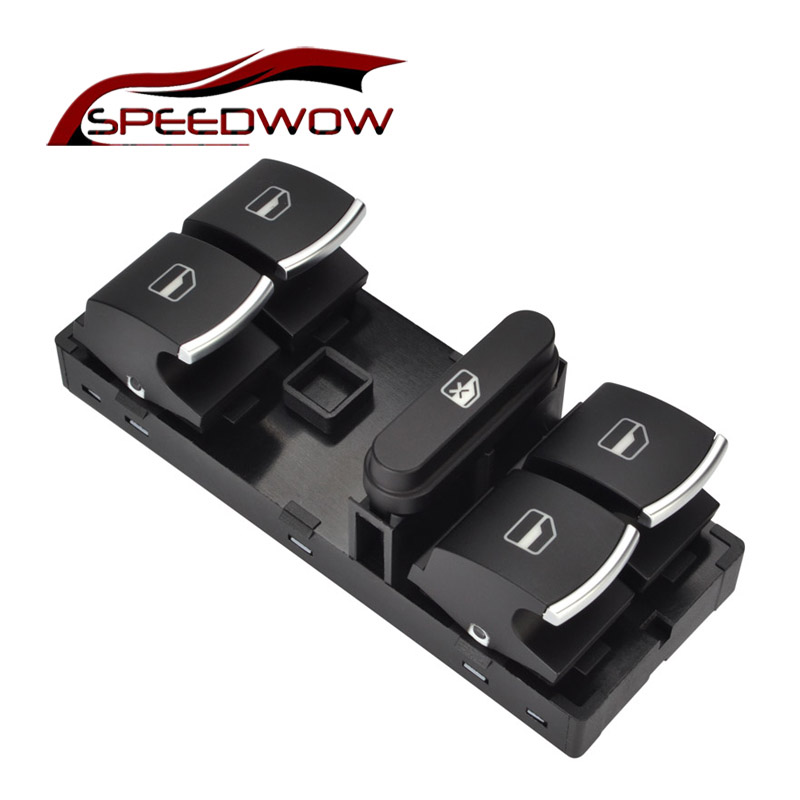 SPEEDWOW Electric Power Master Window Switch Button For VW Jetta Golf MK5 MK6 GTI Rabbit Passat B6 3C Tiguan OEM 5ND 959 857