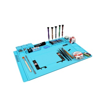 цена на Unversial Soldering Mat Heat Insulation Pad Silicone Pad Desk Mat  Platform S-160 for BGA Soldering Station Heat Insulation Pad