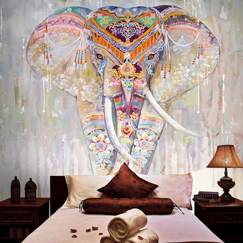 8D Papel Large Mural Elephant Wall Decor Painting 3d Wallpapers Mural 3D Wall Photo Mural Wall paper Bedroom 3d Wallcovering large photo wallpaper bridge over sea blue sky 3d room modern wall paper for walls 3d livingroom mural rolls papel de parede