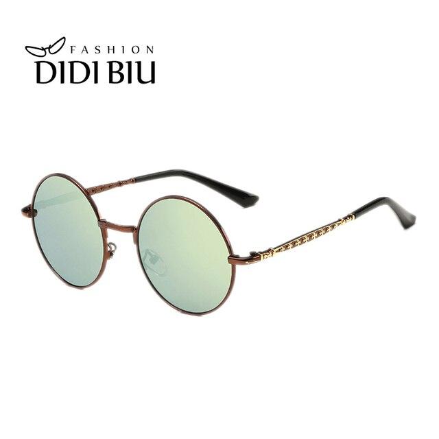 1359735fb1 DIDI Polaroid Sunglasses Boys Girls Children Round Hippie Glasses Alloy  Frame Pink Mirror Eyewear Kids Baby Accessory Grau H119