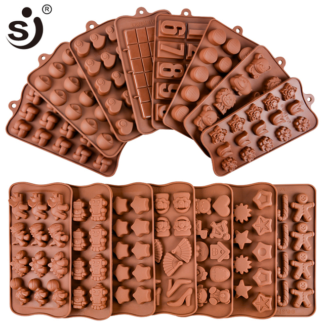 New Silicone Chocolate Mold 24Shapes Chocolate Baking Tools Non-stick Cake Mold Jelly&Candy Mold 3D Mold Decoration DIY Hot Sale 1