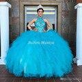Azul frisado sweet 16 vestidos vestidos de 15 años borgonha vestidos quinceanera vestidos de quinceanera vestido de debutante vestidos de 2017