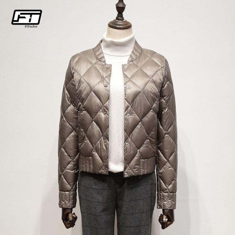 Fitaylor Ultra Light White Duck   Down   Jackets Autumn Winter Women Plus Size 3XL Short   Coat   Slim Warm Black   Down     Coats