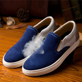 New 2016 Spring Autumn Trend Fashion Casual Men Shoes Breathble Slip-On Flat with Genuine Leather Shoes 39-44 Free Shipping
