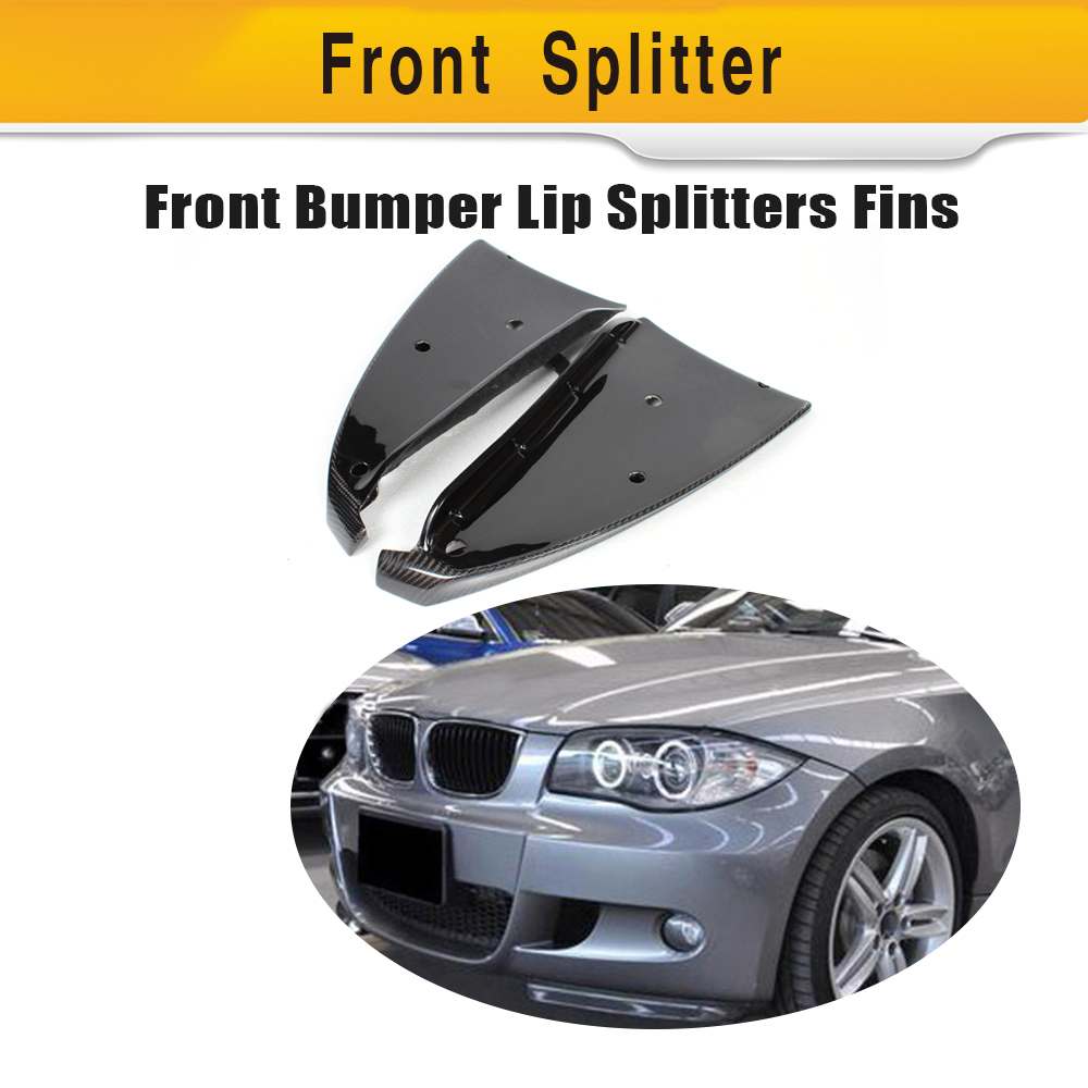 Carbon Fiber Front Side Splitter Aprons Flags For BMW E87 M Tech M Sport Bumper 2007 - 2010 Car Style