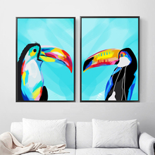 Toucan Nordic Poster And Prints Bird Wall Art Canvas Painting Scandinavian Animal Pictures For Living Room Bedroom Decor