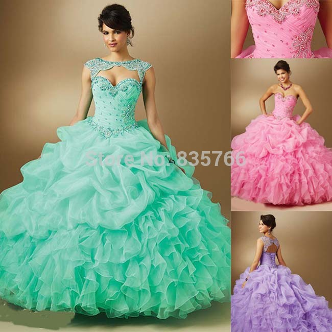 e597bb3aa vestidos 15 anos 2016 quinceaneras Dresses Organza with Removable Jacket  ball Gowns Prom Quinceanera debutante dress 15 years-in Quinceanera Dresses  from ...