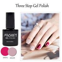 Qualidade perfeita Excelente MICHEY Gel Polonês Rosa Vermelha Cor Unha Polonês Que Bling Gel Verniz Esmalte Parágrafo Unhas Frete Grátis (51 ~ 74) Gel para unhas Beleza e saúde -