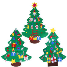 DIY Felt Christmas Tree with Decorations Door Wall Hanging Kids Educational Gift Xmas Tress