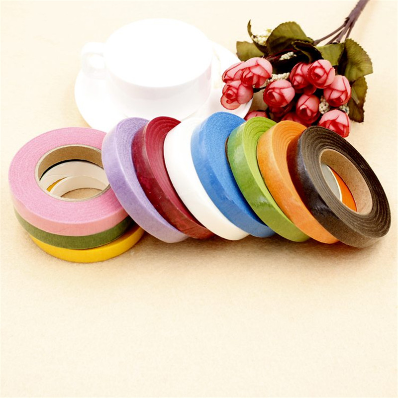30 yards of paper tapes used for florist accessories Florist flowers with chest buttonhole tape DIY paper tape decorative tape in Artificial Dried Flowers from Home Garden