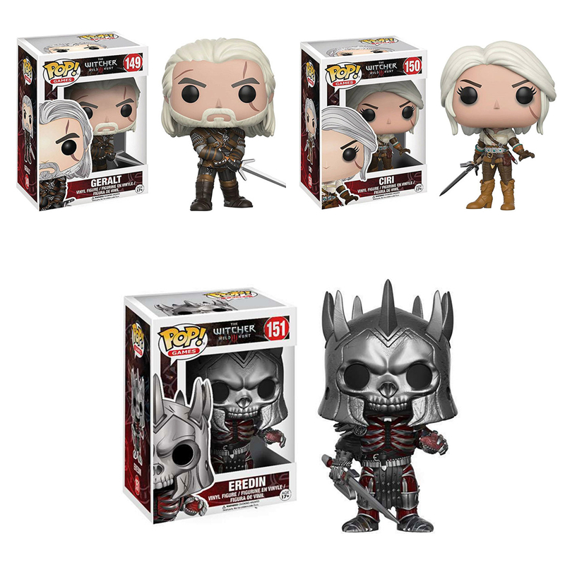 FUNKO POP Game Character The Witcher 3 CIRI GERALT Eredin Vinyl Action Figures Collection Model Toys For Children Birthday Gifts