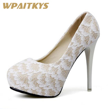 Exquisite Lace High-heeled Shoes Woman Black Apricot Two Colors Fashion Women Shoes Round Head Stiletto Wedding Banquet local focal black fashion exquisite handmade lace handbag