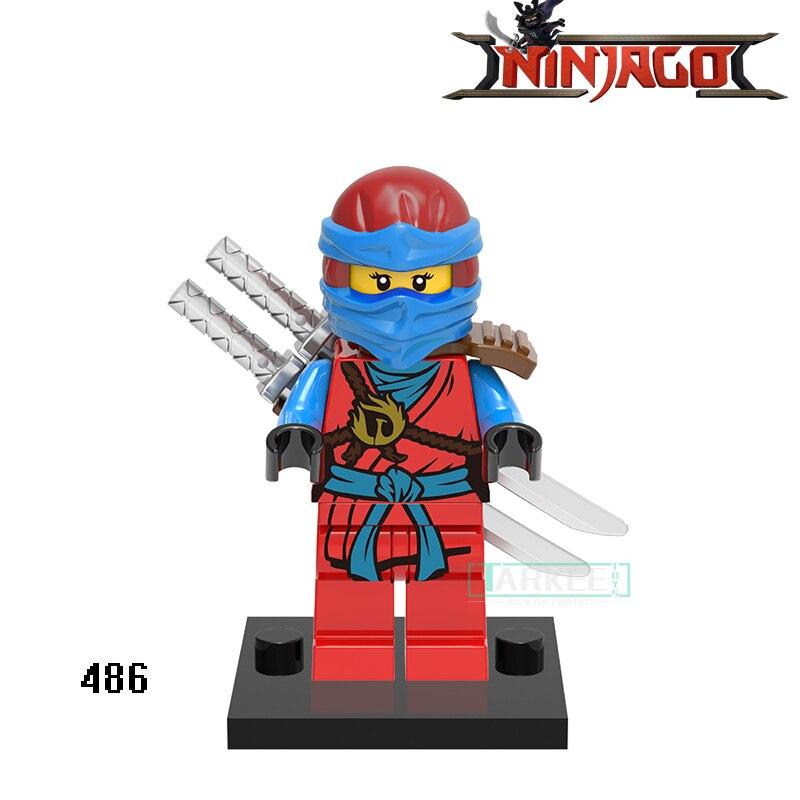 8pcs Super Hero Figure Radioactive Man Domino Building Model Blocks Toy Kids Set