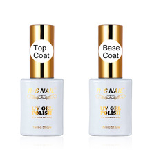 15 ml Top en Base Coat UV LED Lamp Cured Nail Gel Polish met een hoge kwaliteit Top Gel Base Coat Long Lasting