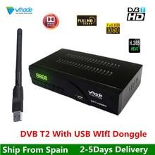Vmade DVB T2 USB font b WIFI b font MPEG4 H 265 HEVC DVB T2 Terrestrial
