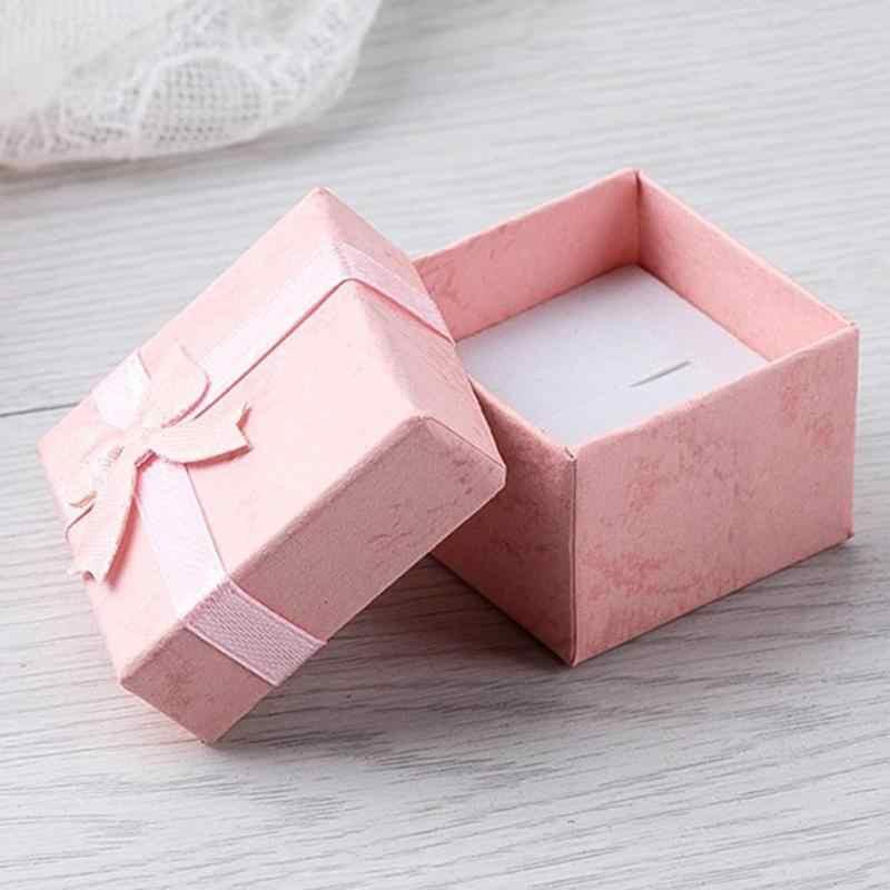 4x4x3cm תכשיטי תיבת Jewery ארגונית תיבת אחסון קטן אריזת מתנה עבור טבעות עגילי טבעת תכשיטי שעון תצוגת joyeros organizad