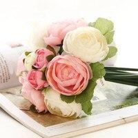 แฮนด์เมดที่สวยงามประดิษฐ์ดอกไม้ตกแต่งงานแต่งงานของแต่งงานช่อดอกไม้งานแต่งงานช่อดอกไม้...