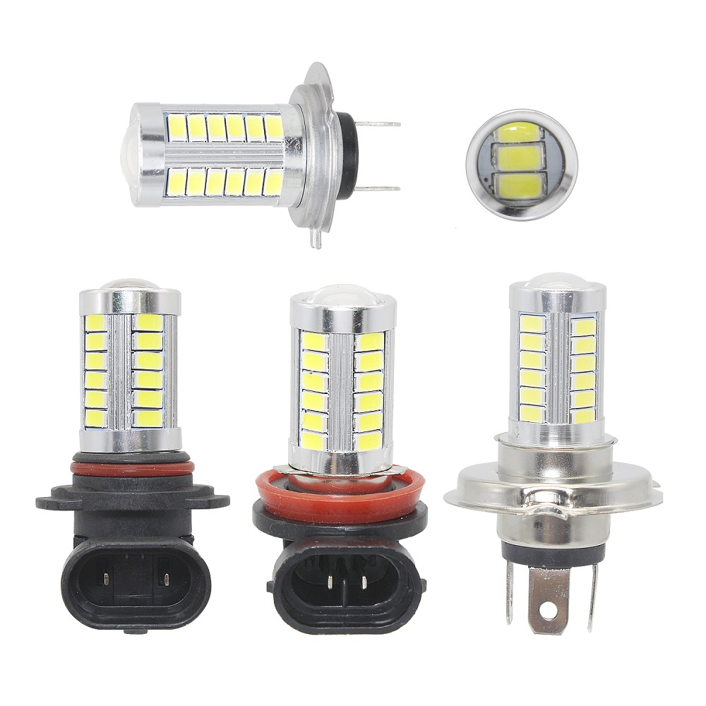 2pcs H4 H7 H11 9005 9006 33SMD 5630 5730 LED Car Light Bulb High Bright Auto Fog Lamp Tail Brake Bulb 12V Car Styling