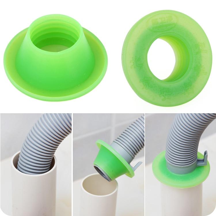 2pcs Sewer Pipe Pest Control Anti Odor Deodorant Silicone