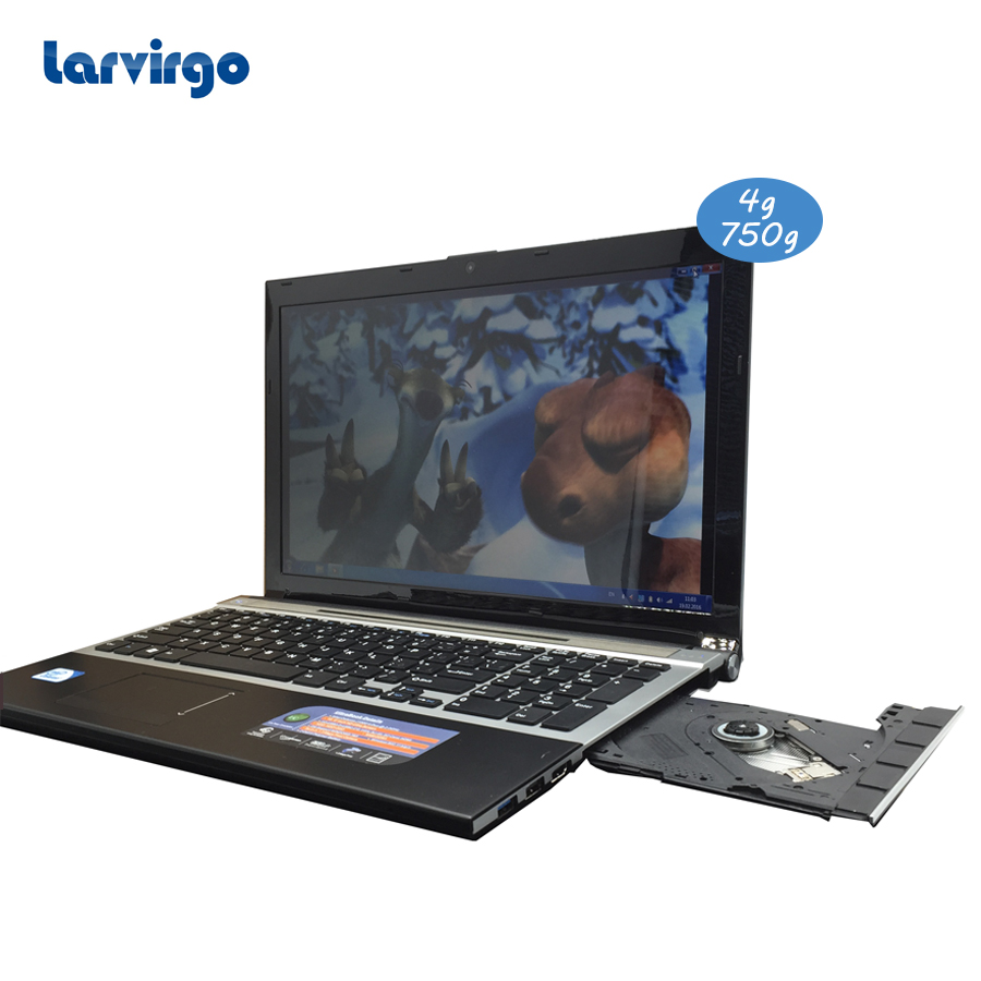 With DVD-RW 4G ram 750G HDD Expandable hard drive 15.6 inch laptop Intel Celeron J1900 2.0GHz in camera